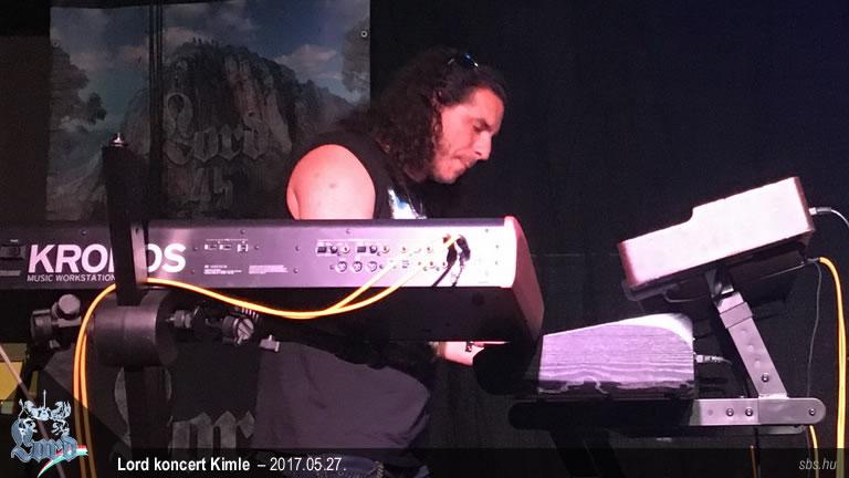 Márk egy 2017-es Lord koncerten