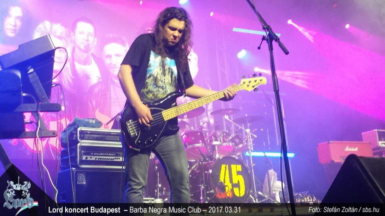 Lord koncert - Barba Negra Music Club – Ferni - Apró Károly - basszusgitár