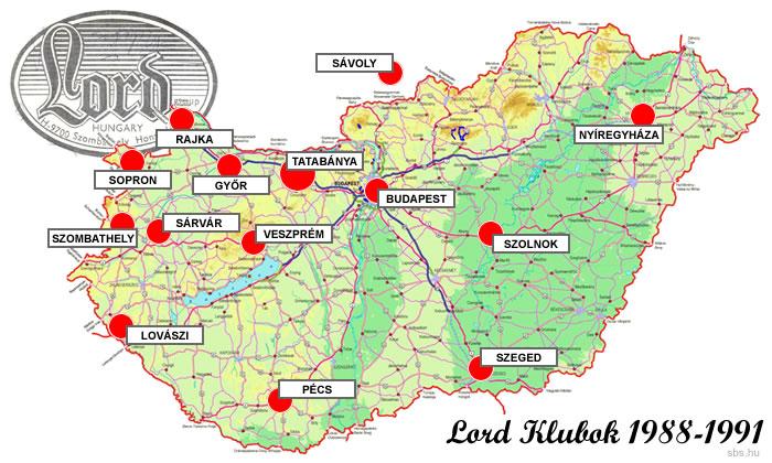 Lord Klubok térképe 1988-1991