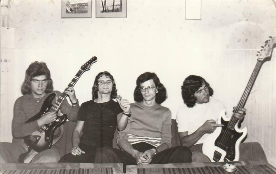 Az 1974-es Lord felállás: Kacsa, Sipsi, Pepszi, Fefe - Fotó: Nádas Károlyné, Ági fényképe