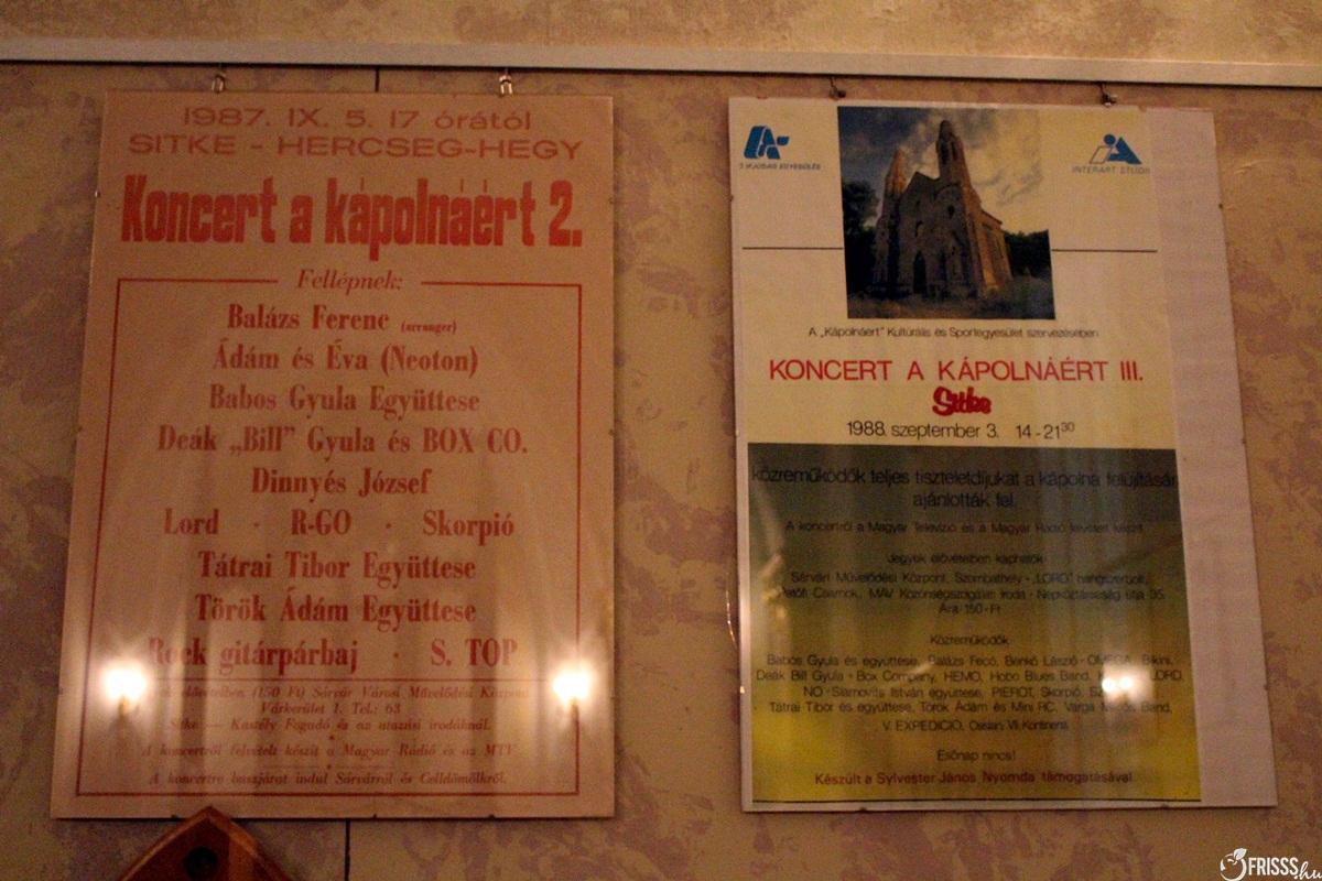 A Sitkei Rockfesztivál 1987 és1988-as plakátja