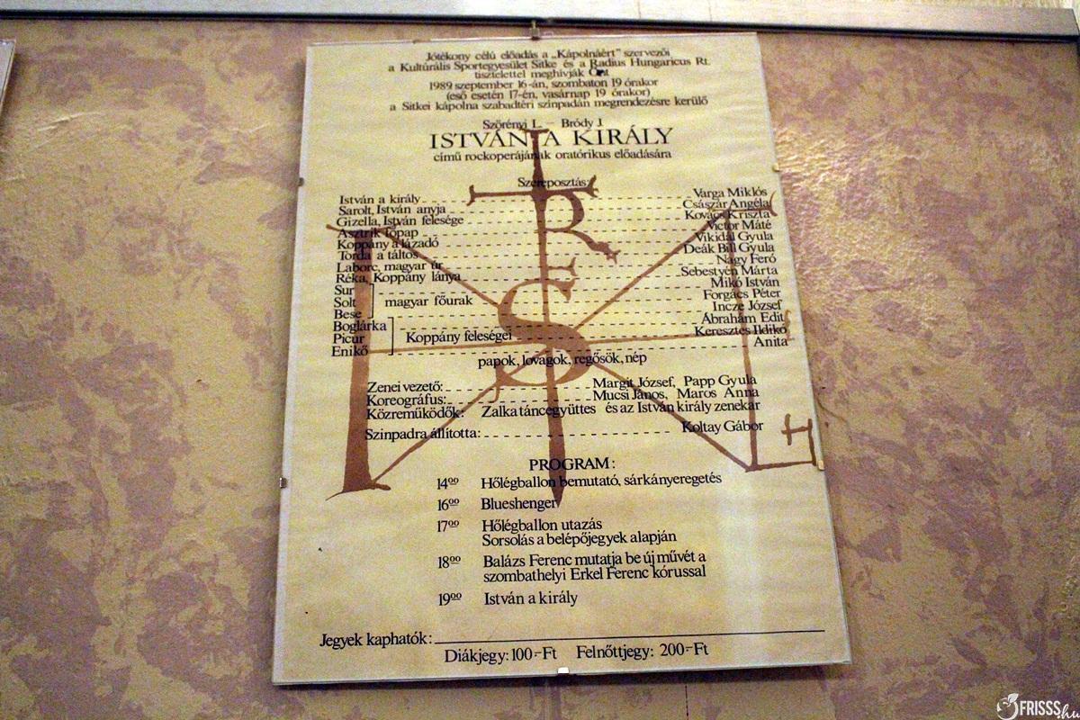 A Sitkei Rockfesztivál 1989-es István a király plakátja