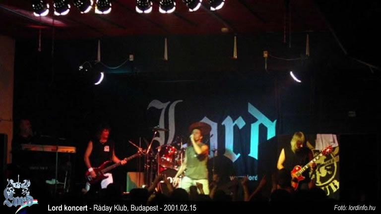 Lord koncert a Ráday klubban Budapesten 2001 febr 15-én.