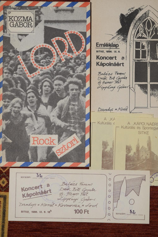 A sitkei Lord koncert emlékei 1986-ból